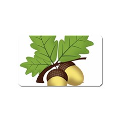 Acorn Hazelnuts Nature Forest Magnet (name Card)