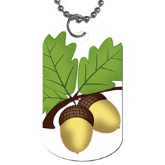 Acorn Hazelnuts Nature Forest Dog Tag (one Side)