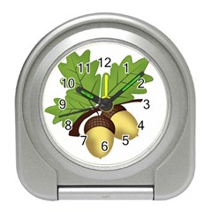 Acorn Hazelnuts Nature Forest Travel Alarm Clocks