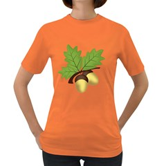 Acorn Hazelnuts Nature Forest Women s Dark T Shirt