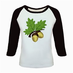 Acorn Hazelnuts Nature Forest Kids Baseball Jerseys