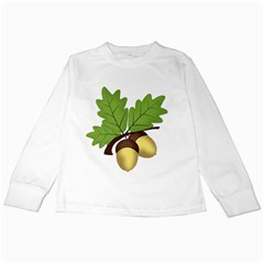 Acorn Hazelnuts Nature Forest Kids Long Sleeve T Shirts