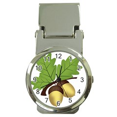 Acorn Hazelnuts Nature Forest Money Clip Watches