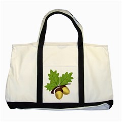 Acorn Hazelnuts Nature Forest Two Tone Tote Bag