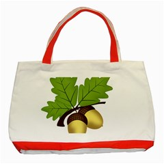 Acorn Hazelnuts Nature Forest Classic Tote Bag (red)
