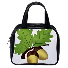 Acorn Hazelnuts Nature Forest Classic Handbags (One Side)