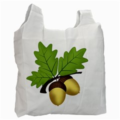 Acorn Hazelnuts Nature Forest Recycle Bag (one Side)