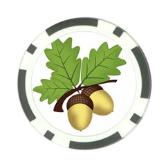 Acorn Hazelnuts Nature Forest Poker Chip Card Guard (10 Pack)
