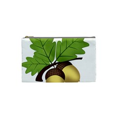 Acorn Hazelnuts Nature Forest Cosmetic Bag (Small)