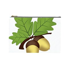 Acorn Hazelnuts Nature Forest Cosmetic Bag (Large)