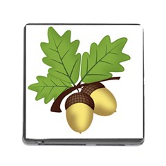 Acorn Hazelnuts Nature Forest Memory Card Reader (square)