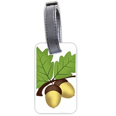 Acorn Hazelnuts Nature Forest Luggage Tags (Two Sides)