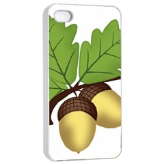 Acorn Hazelnuts Nature Forest Apple Iphone 4/4s Seamless Case (white)