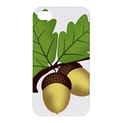 Acorn Hazelnuts Nature Forest Apple Iphone 4/4s Premium Hardshell Case