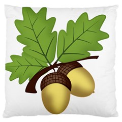 Acorn Hazelnuts Nature Forest Large Cushion Case (two Sides)