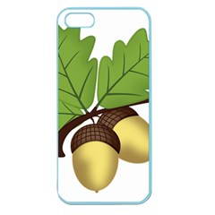 Acorn Hazelnuts Nature Forest Apple Seamless iPhone 5 Case (Color)