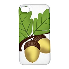 Acorn Hazelnuts Nature Forest Apple iPhone 4/4S Hardshell Case with Stand
