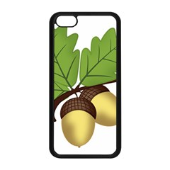 Acorn Hazelnuts Nature Forest Apple Iphone 5c Seamless Case (black)