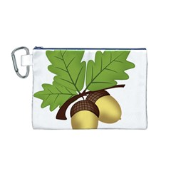 Acorn Hazelnuts Nature Forest Canvas Cosmetic Bag (M)
