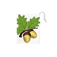 Acorn Hazelnuts Nature Forest Drawstring Pouches (XS)
