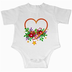 Heart Flowers Sign Infant Creepers