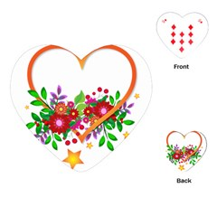 Heart Flowers Sign Playing Cards (Heart)