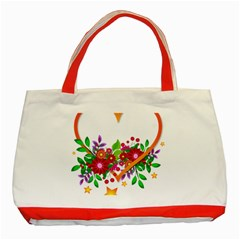 Heart Flowers Sign Classic Tote Bag (red)