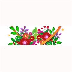 Heart Flowers Sign Large Bar Mats