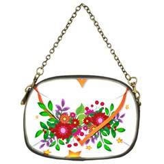 Heart Flowers Sign Chain Purses (One Side)