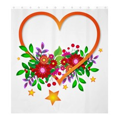 Heart Flowers Sign Shower Curtain 66  X 72  (large)