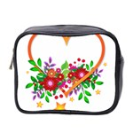 Heart Flowers Sign Mini Toiletries Bag 2-Side Front