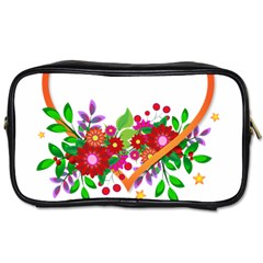 Heart Flowers Sign Toiletries Bags 2-Side