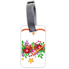 Heart Flowers Sign Luggage Tags (One Side)