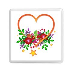 Heart Flowers Sign Memory Card Reader (square)