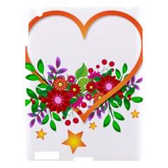 Heart Flowers Sign Apple Ipad 3/4 Hardshell Case