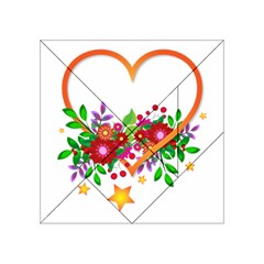 Heart Flowers Sign Acrylic Tangram Puzzle (4  X 4 )