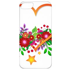 Heart Flowers Sign Apple iPhone 5 Classic Hardshell Case