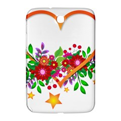 Heart Flowers Sign Samsung Galaxy Note 8 0 N5100 Hardshell Case