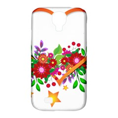 Heart Flowers Sign Samsung Galaxy S4 Classic Hardshell Case (pc+silicone)