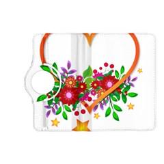 Heart Flowers Sign Kindle Fire Hd (2013) Flip 360 Case