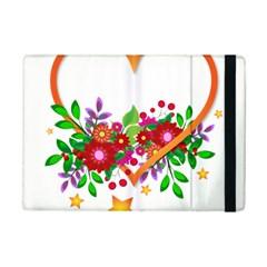 Heart Flowers Sign Ipad Mini 2 Flip Cases