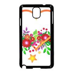 Heart Flowers Sign Samsung Galaxy Note 3 Neo Hardshell Case (black)