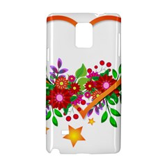 Heart Flowers Sign Samsung Galaxy Note 4 Hardshell Case