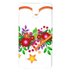 Heart Flowers Sign Galaxy Note 4 Back Case