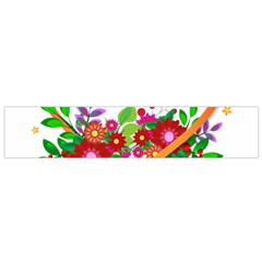 Heart Flowers Sign Flano Scarf (small)