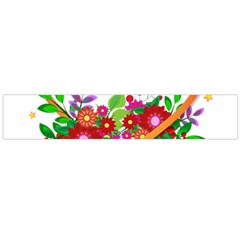 Heart Flowers Sign Flano Scarf (large)