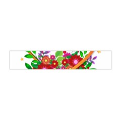 Heart Flowers Sign Flano Scarf (Mini)