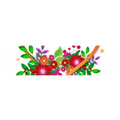 Heart Flowers Sign Satin Scarf (Oblong)