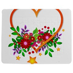 Heart Flowers Sign Jigsaw Puzzle Photo Stand (Rectangular)