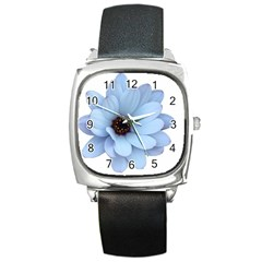 Daisy Flower Floral Plant Summer Square Metal Watch